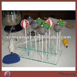 Rectangle Desktop Acrylic Plexiglass Pop Holder Base