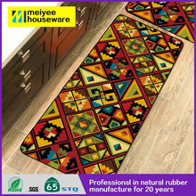 Best selling Polyester And Nylon Non Slip Printed Door Kitchen Floor Mat