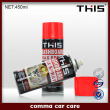 car dashboard polish wax spray and leather wax