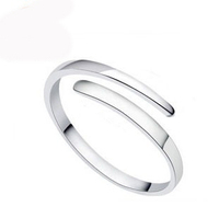 Alice Silver 925 Sterling Silver Ring Lovely Female Models Ring Opening Birthday Presents Simple Lines Free Shipping
