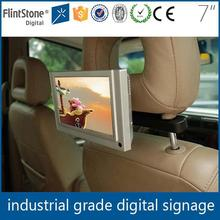 Flintstone 7 inch small video lcd taxi digital advertising screens for sale