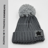 Womens Winter Rib Knitted Hat / Beanie with Chunky PomPom many colours