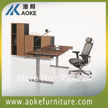 aluminum conference desk frame with dual motor