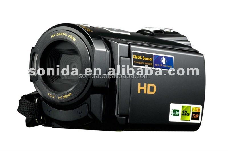 hdv-502s HD 캠코더 HD CMOS 프로 및 32기가바이트 외부 메모리