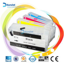 Bulk ink system reset chip refillable for HP 711 refill ink cartridge hot sell 2015