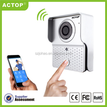 Shenzhen ACTOP Video HD wifi ip camera IOS Android phone app smartbell video doorbell