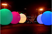 promotion inflatable lighting balloon/advertising inflatable balloon/LED stand balloon(2m)White Base
