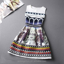 New summer vintage print women party sexy club dresses cheap clothes china female bodycon dress