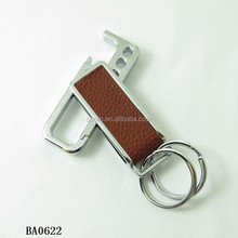 personalized men's leather keychain leather key Fob