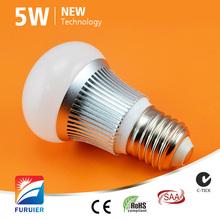 saa dimmable e27/b22/e14 driverless 5w led light bulb