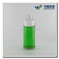 500ml 16 oz clear glass beverage bottle for fruit juice wholesale