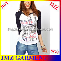 Wholesale 65 polyester 35 cotton t shirt with print