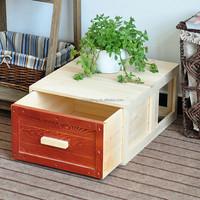Japanese kitchen solid wooded Paulownia storage box