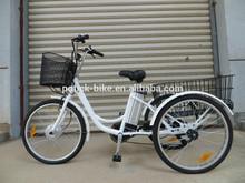 """24"""" 250W 36v 10ah electric bike li ion battery three tricycle/three wheel electric motor bike"""