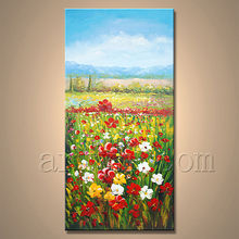 Newest Handamde Garden Scenery Oil Painting For Decor