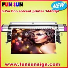 New Galaxy 1.6m/1.8m/2.1m/2.5m/3.2m large format Eco solvent inkjet printer ( DX5 head ,1440dpi)