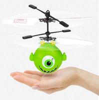 Mini flyer Cartoon flying balls rc birds with LED light