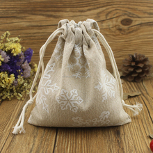 2016 Alibaba China online hot sell promotional linen drawstring sack for gift packing