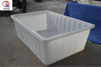Rotational PE open top square water container