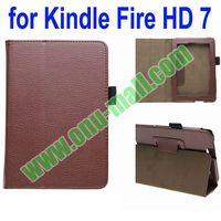Pure Color Leather Case for Amazon Kindle Fire HD 7 with Holder and Touch Pen Holder