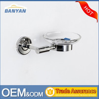 Customized Stainless steel hotel corner shower soap dish
