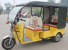 48V1000W 3 Wheeler Electric Passenger Rickshaw / Hot Sale Battery Tricycle