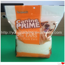 Pet food stand up bags for packing