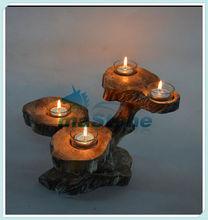 Antique wooden candlesticks