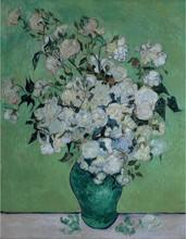 Modern wall art a vase of roses art oil painting
