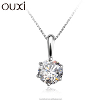 OUXI hot sell 925 sterling silver fashion pendants Y30061