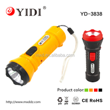 Cheap Plastic Rechargeable led torch flashlight 0.5w 500mah
