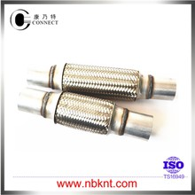 Long life flexible pipe exhaust with nipple connection