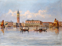 Old Master Oil Painting of Venice Art Print for Home Goods