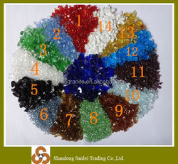 decorative colored recycled terrazzo floor glass chips