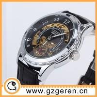 wholesale cheap leather mechanical fashion man's watch