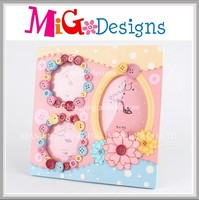 New product multiple photo frame unique design clothing buttons frame