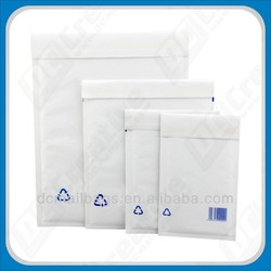 two layer white Kraft bubble padded envelope with Customised printing in China