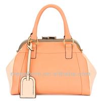 China Wholesale Hang Tag Hasp Woman Leather Bag