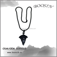 Neck Black Bead with Fancy Necklace Design 17565