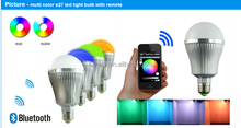 new flux bluetooth wifi controlled led color smart light bulb 7w e27 rgbw