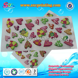 18 years rich experience factory on printing field supply custom puffy stickers