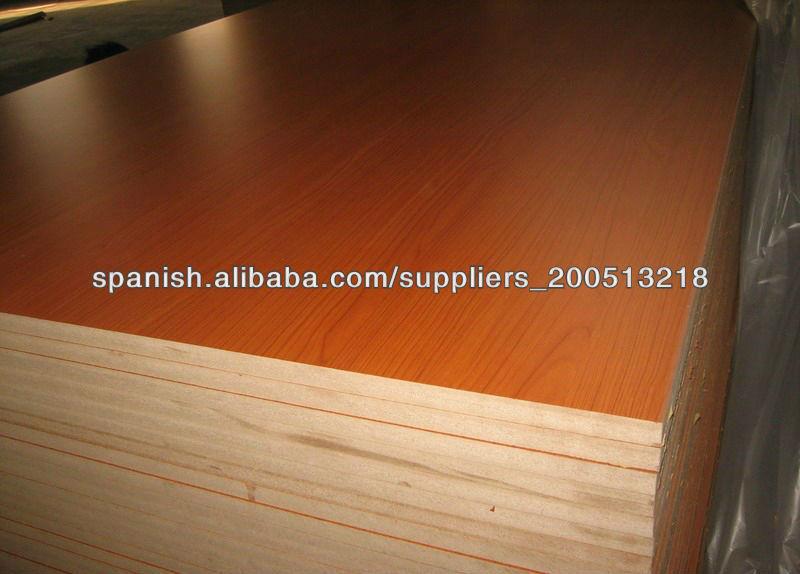 1220  2440m m impermeable MDF melamina de China, grado de muebles