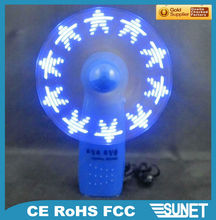 led electric gift customized text flashing fan powered car