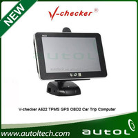 2015 New Arrival V-checker A622 Trip Computer & GPS Navigator & TPMS & Oil Statistics with Free Shipping