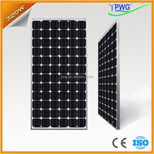 PWG IP65 Rated Junction box Solar Panel 320W with CE & ISO Factory Directly Price