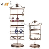 Yiwu manufacturer home decoration rotating metal display rack for earrings