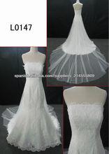 último cordón del hombro vestido de encaje de la boda guangdong