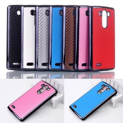 new products 2015 innovative product electronics Luxury Carbon Fiber Leather Back Cover Hard Case For LG g3 case