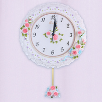 retro flip down clock internal gear operated school security small round clock mechanism system stamp smiley souvenir with clock