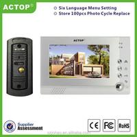 Hot Sale ACTOP 7inch touch screen super thin design video door phone intercom